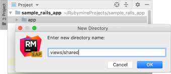 How To Create A Directory Creating Directories Help Rubymine