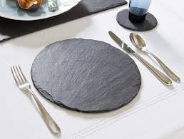 just slate placemats round set of 2