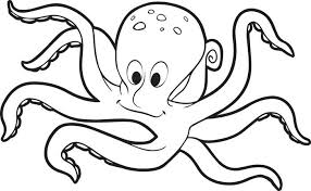 octopus coloring book free printable octopus coloring page for kids on black white outline image octopus