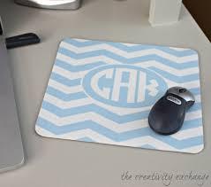 diy monogrammed mousepad using free monogram printables