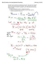 solving quadratic equations worksheet and quadratic formula free math worksheets word problems and perfect solving quadratic