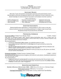 Example Achievements For Resume Investment Banking Resume Example