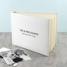 Photo Albulm Engraved White Wedding Photo Album I Just Love It