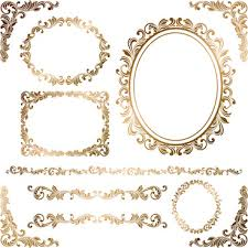 gold frame border design. Gold Decoration Border Vector Frame Design T