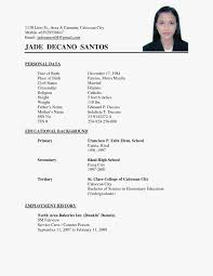 Simple Resume Examples Pdf Basic Sample Doc For Freshers Philippines