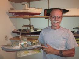 woolwich resident dana mclean has been building model or shrunken wooden lobster boats since 1993 it s all in the detail