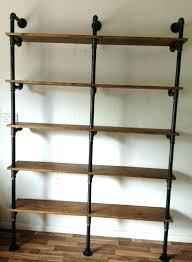 black pipe shelves bookshelf industrial plans black pipe shelves