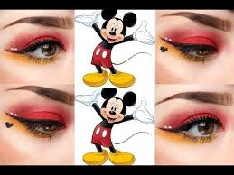 mickey mouse inspired eye makeup you