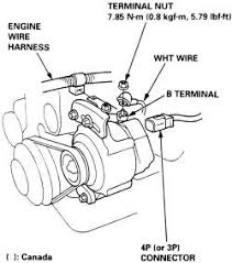 honda alternator wiring questions & answers (with pictures) fixya ford alternator plug removal at How To Disconnect Alternator Wiring Harness
