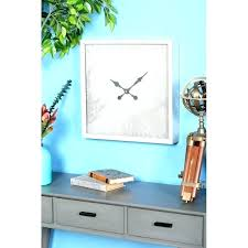 wall clocks turquoise wall clock chip modern square large rusty round metal