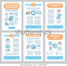 Informational Poster Sample Layout Computer Programming Brochure Template Layout Software Stock