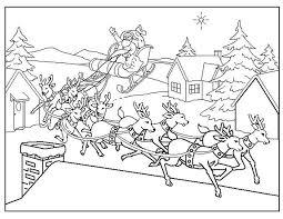 Kleurplaten Kerstman Met Rendieren Nvnpr