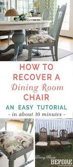 let me show you how to recover a dining room chair with this simple tutorial