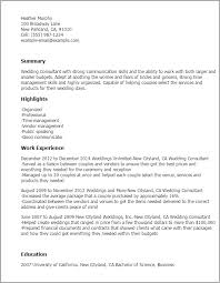 Wedding Consultant Resume Template Best Design Tips