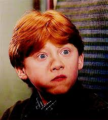 Image result for ron weasley scared