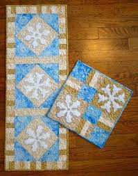 Cottage Quilt Designs | Craftsy & Sold by Cottage Quilt Designs. $10.00 · Snowflake Tablerunner & Candlemat Adamdwight.com
