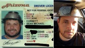 On Head Driver's Photographed Edition Colander 'pastafarian' Wearing Inside License Spaghetti In