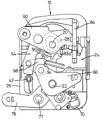 Patent us6305727 vehicle door latch assembly patents