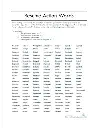 Verbs To Use In Resume 3282