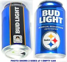 Steelers Bud Light Cans For Sale 2018 Pittsburgh Steelers Nfl Kickoff Bud Light Beer Can Team Sports Fan Football