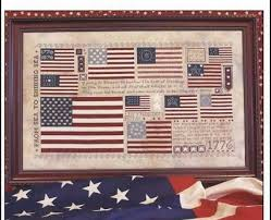 Old Glory Patriotic Flags Cross Stitch Chart And Similar Items