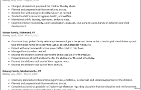 Objective For A Nanny Resume Cool Babysitter Resume Sample 100 100 Nanny Examples 100a Best Free 71