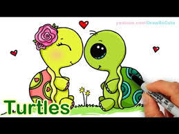 Small Picture How to Draw Turtles Sweet and Cute step by step YouTube
