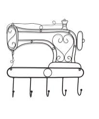 sewing machine wall hook décor