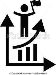 Man Grow Up Chart Icon Simple Style