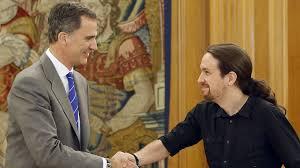 Resultado de imagen de Fotos de Pablo Iglesias y el Rey