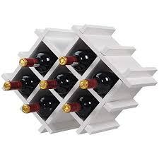 custpromo set of 5 wall mount wine rack set bottle glass holder w storage shelves home kitchen décor white