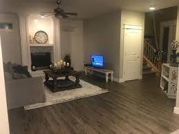 Wood floors in living room Vinyl Laminate Wood Flooring Modern Living Room Floor City Calypso Cardigan Laminate Wood Flooring With Pad Attached Atroguard