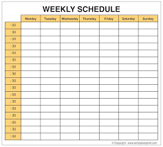 Weekly Planner Blank Weekly Calendar Template With Time Slots