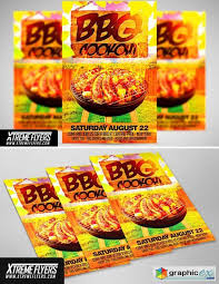 Bbq Cookout Flyer Template Free Download Vector Stock