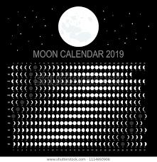 Moon Calendar 2019 English Version Royalty Free Stock Image