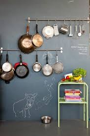 inspiration 40 hanging pots and pans on wall decorating