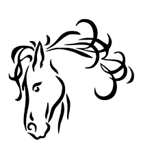 horse head clipart. Plain Horse Horse Line Drawings Clip Art  24 Horse Head Line Drawing Free Cliparts  That You Can Download To  Intended Head Clipart