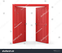 open double doors. Red Double Door Open On White Stock Illustration 557197747 - Shutterstock Doors