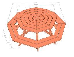round picnic table plans childrens free folding diy pdf