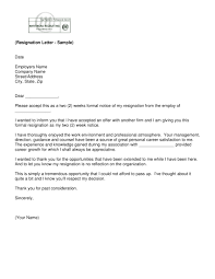 Simple Resignation Letter Sample Green Brier Valley