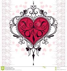 эскиз сердца хны татуировки иллюстрация вектора иллюстрации
