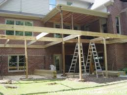 screened in deck. Construction Begin On New Screened Porch In Deck