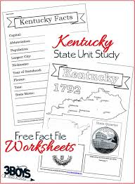 Kentucky State Fact File Worksheets – 3 Boys and a Dog