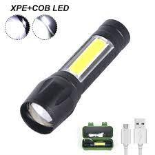 Đèn pin mini siêu sáng có thể sạc lại, hàng cao cấp, có zoom - Đèn pin Hãng  No brand
