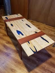 brazilian wood furniture. Pine, Brazilian Cherry, And Glow Resin Coffee Table Wood Furniture