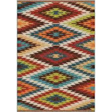 orian rugs prescott multi aztec 8 ft x 11 ft indoor outdoor area rug 355826 the home depot