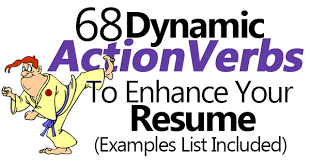 40 Dynamic Action Verbs To Enhance Your Resume Examples List Included Impressive Action Words To Use In Resume