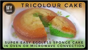 Tricolor Cakeeggless Sponge Cake Without Condensed Milk