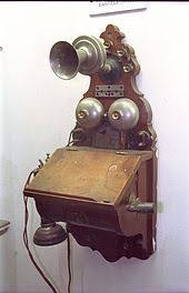 telephone wooden wall telephone a hand cranked magneto generator