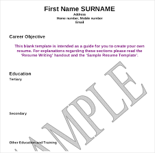 Resume Template Examples 12+ Resume Writing Template – Free Sample, Example Format Download ...